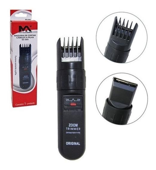 Maquina Para Cortar Cabelo / Barbeador A Pilha *-*