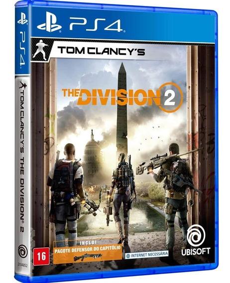The Division 2 Tom Clancys Ps4 Jogo Mídia Física Português