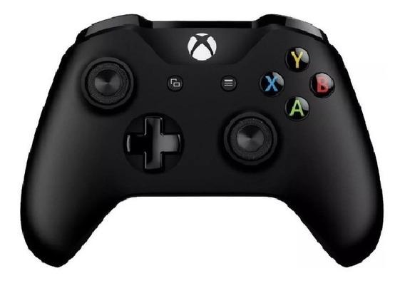 Controle Joystick Xbox One Microsoft Preto Novo