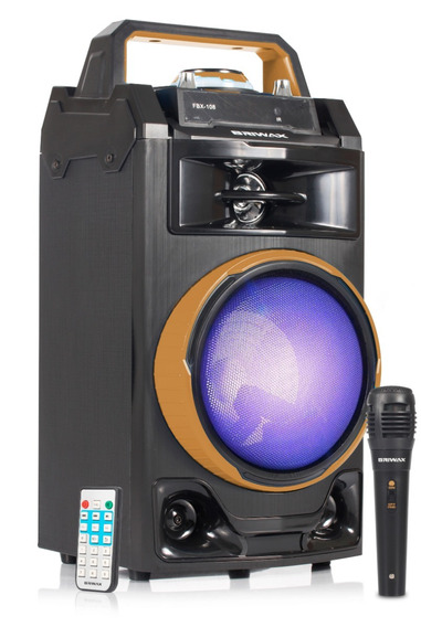 Caixa Som Portátil Bluetooth 40w Recarregável Usb Microfone