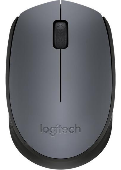 Mouse Logitech Sem Fio M170 Wireless 1000dpi Oficial Nf