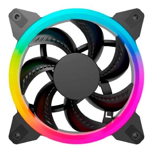 Ventilador Led Rgb De 120mm Ocelot Ogf02 P/controlador 6 Pin