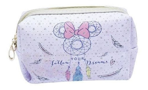 Necessaire Minnie Mandala Lilás 11 X 7x18 Cm Disney Licenciado