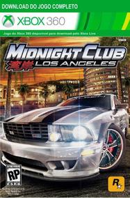 Midninght Club Los Angeles Xbox 360 - Mídia Digital