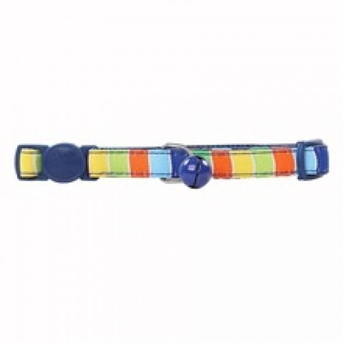Collar Para Gato Ajustable De Nylon Color Azul 20 - 30 Cm