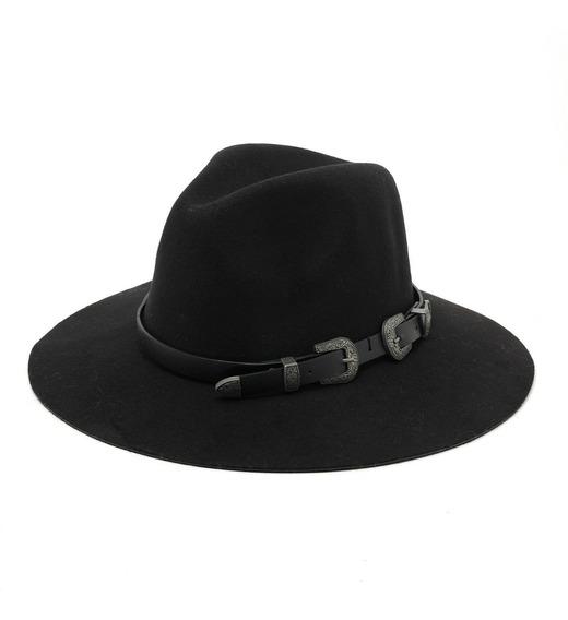 Sombrero Cowboy Fieltro Hebillas