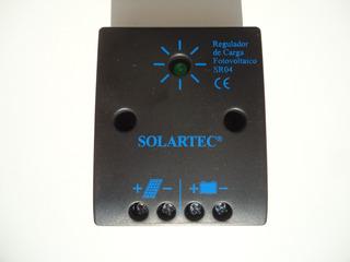Regulador De Carga Sr 04 Solartec Para Paneles Solares