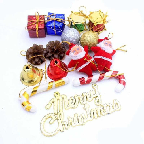 Adornos Navideños Colgantes Modelos Surtidos Pino Navidad