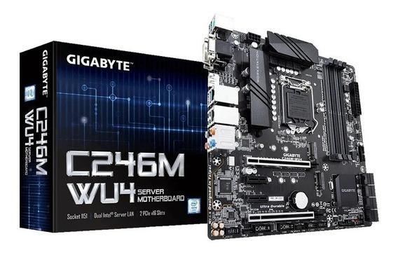 Placa Mae Servidor Intel Gigabyte C246m-wu4 Xeon