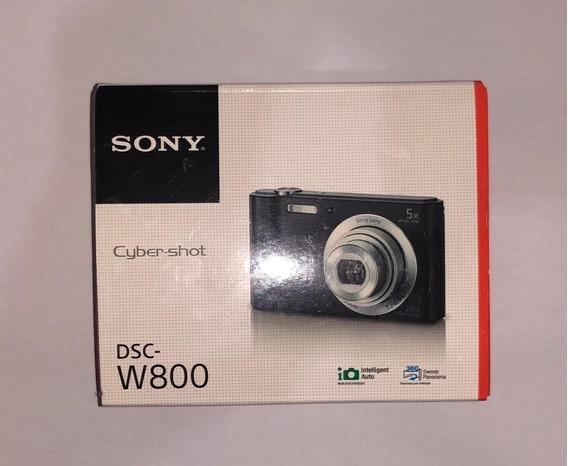 Câmera Digital Sony Cyber-shot Dsc-w800 Compacta Preta