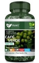 Cafe Verde 500mg 60 Caps Cada *muwiz- 12 Frascos-atacado