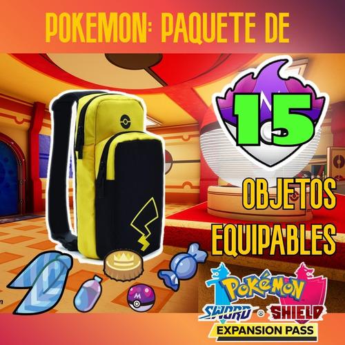 Imagen 1 de 1 de Paquete 15 Objetos Items Pokemon Sword Shield Espada Escudo