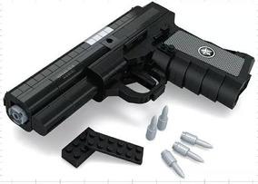 Bloco Montar Arma Pistola Policia Brinquedo Menino 327p