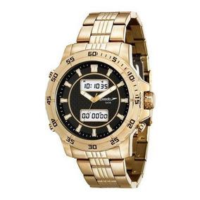Relógio Speedo 24857gpevde1 Dourado Anadigi Unissex Promoção