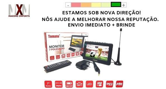 Tv Portátil Led Monitor Tv Full Hd Digital 7 Polegadas Usb