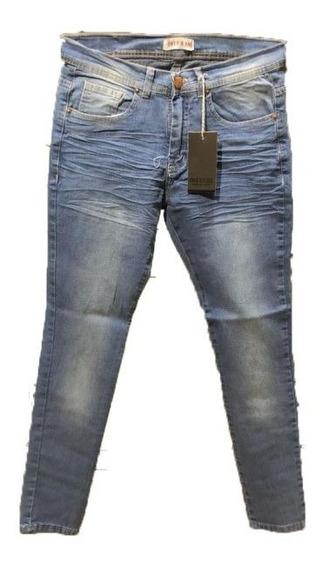 Pantalon Jean Slim F Sw Bigote Arrugado | Hallinger (ok102)