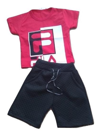 15 Conjuntos Infantil Menino Short Bermuda Blusa 2 A 10 Anos
