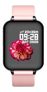Relogio Smartwatch B57 Feminino Rose iPhone Android Samsung