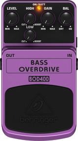 Pedal P/baixo Bod400 Overdriver - Behringer + Nf + Garantia