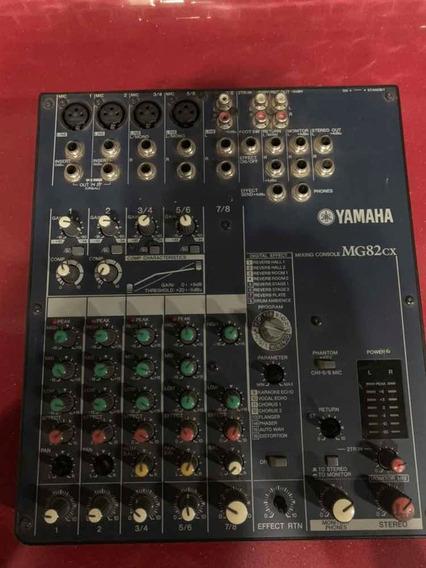 Mesa De Som Yamaha Mg82cx + Fonte