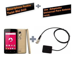 Smartphone Positivo Twist Mini S430 + 1 Adaptador Universal