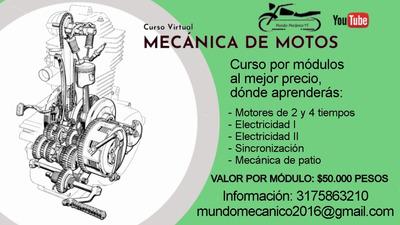Aprende Mecánica De Motos Por Ciclos, Clases 100% Virtuales