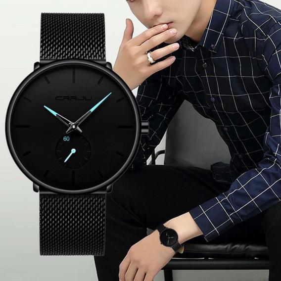 Relógio Masculino Social Luxo Ultra Fino Casual Esportivo