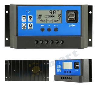 Regulador De Voltaje Panel Solar 60a 12/24v Display Amperim