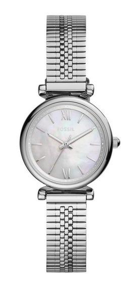 Relógio Fossil Feminino Carlie Mini Prata Es4695/1kn