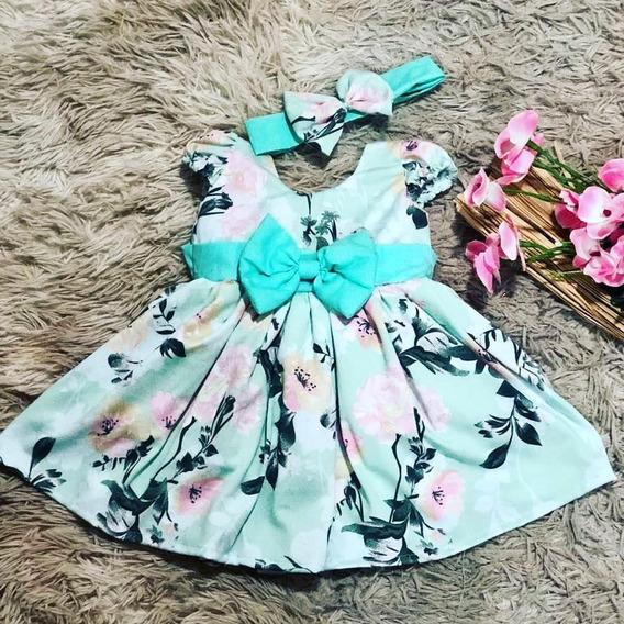 Vestido Luxo Menina Bebê Infantil Rn A 4 Faixa Recem Nascido Bolinha Preta Minnie Rosa Baby
