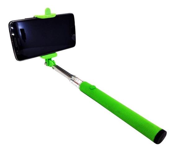 Pau Bastão Selfie Monopod Universal Android Ios Via Cabo P2