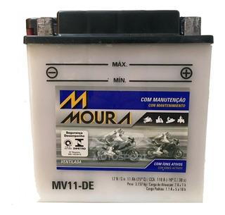 Bateria Moto Moura 11ah Suzuki Virago 250 Gs 500 V-star 250