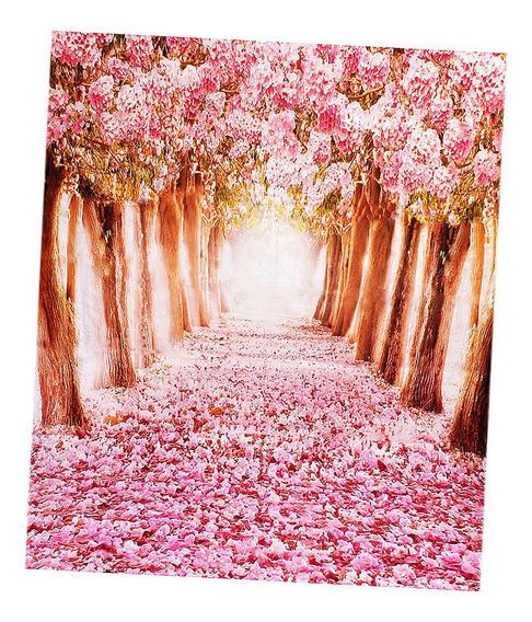 7x5ft Sakura Flor Wall Floor Studio Fotografia Pano De Fundo