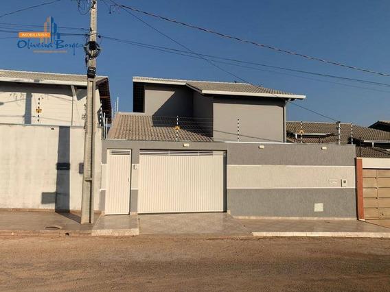 Casa À Venda Com 3 Dormitórios E Acabamento Diferenciado Por R$260.000 No Jardim Itália - Anápolis Go - Ca1364