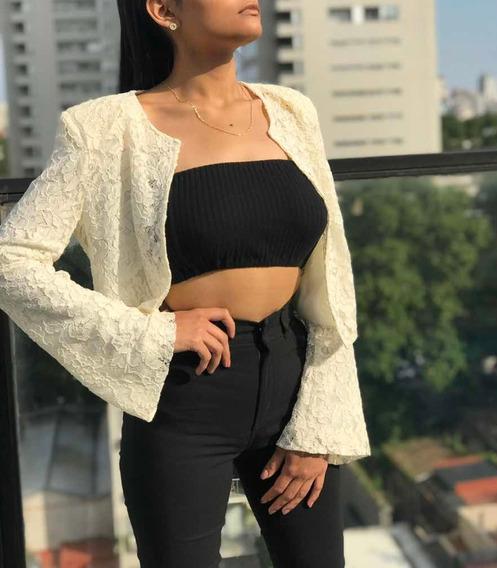 Pantalón Chupin Elastizado De Bengalina De Mujer Tiro Alto