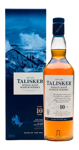 Whisky Talisker 10 Años Single Malt Scotch 750ml Escoces