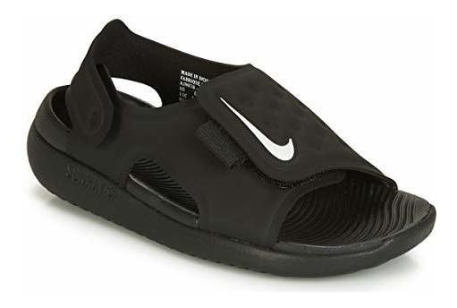 Nike Sunray Adjust 4 (ps) Litle Para Niños S Sandalias Negr