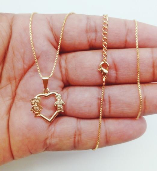 Colar+pingente De Ouro 18k Banhado Cartier Kml6544 208