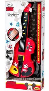 Violin Electronico Mickey Mouse Original Disney Scarlet Kids