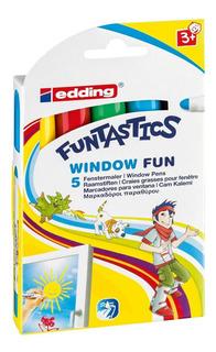 Marcador Para Niños Para Ventanas Edding 16 Set 5 Colores