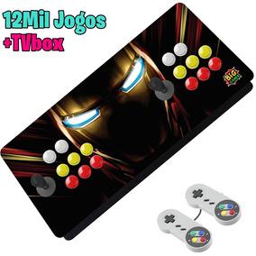 Video Game Portátil Raspberry Pi3 Iron Man 12mil Jogos Novo