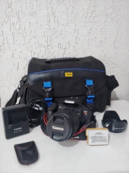 Câmera Canon Eos Rebel T5i 18-55 Pouco Uso - Novíssima
