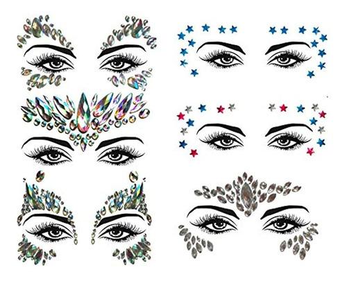 Joyas Faciales, Conjunto 2 Diseño Variados. Marca Pyle