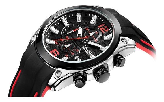 Elegante Reloj Deportivo Caucho Moda Casual Hombres Silicon