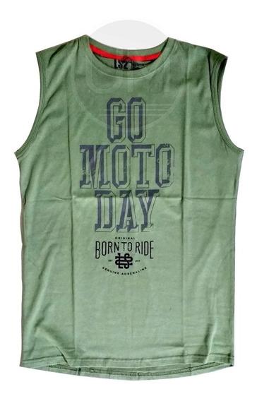 Musculosa Go Moto Verde Ls2 Algodon Original Um