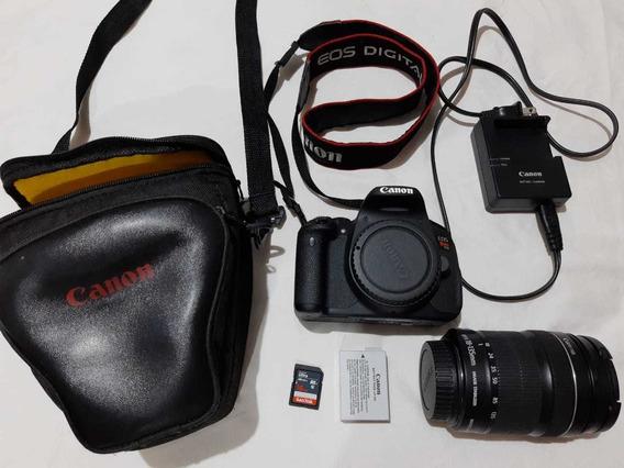 Câmera Fotográfica Canon Eos Rebel T5i Com Lentes 135mm