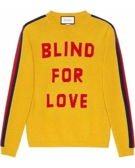 Suéter Gucci Blind For Love En Amarillo