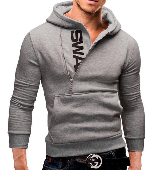Blusa Casaco Masculino Slim Fit Estilo Moleton Luxuoso 3072