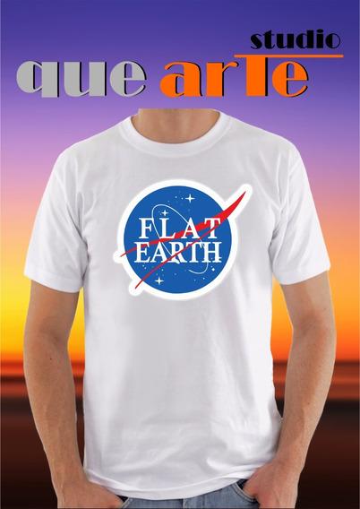 04 Camisas Personalizadas Flat Earth Terra Plana