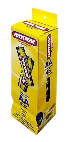 Pilha Bateria Comum 2 Aa Cx 48 Unidades Rayovac Brinquedo